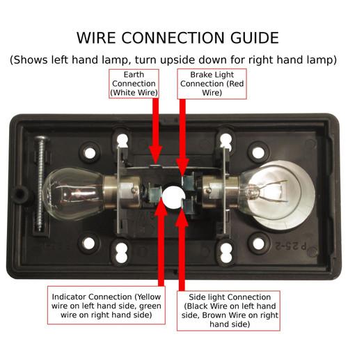Britax Rear Trailer Light / Combination Lamp Lighting PAIR TR049