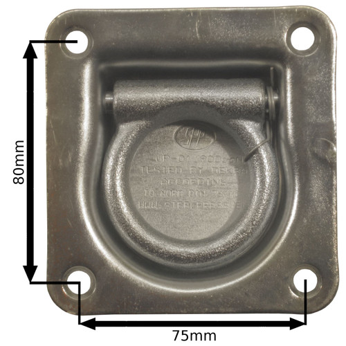 Recessed Tie Down / Lashing Eye / Ring / Anchor PACK of 4 TR082