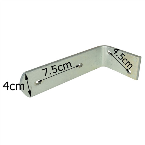 Trailer Mudguard Angle Bracket HEAVY DUTY 90 degree Corner Brace PAIR TR083 (SMALL)