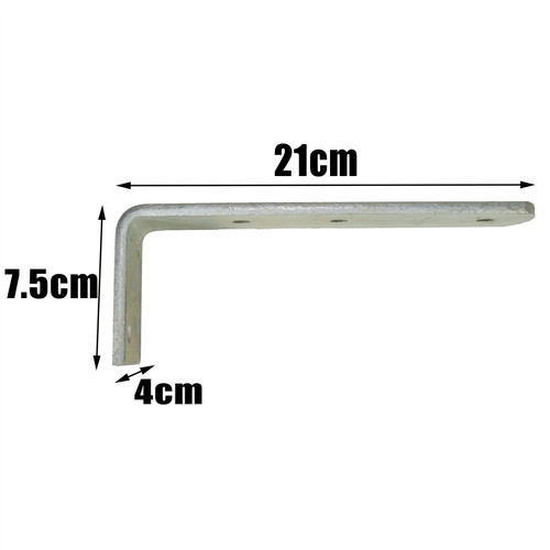 Long Trailer Mudguard Angle (LARGE) Bracket HEAVY DUTY 90 degree Corner Brace PAIR TR084