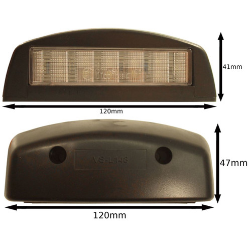 LED Number Plate Lamp  / Light for Trailers, Caravans, Kit Cars TR100