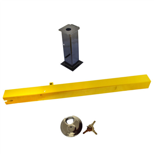 Security Post Lock Removable for Caravans Trailers Driveway etc Cement In TR177
