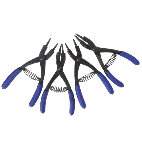 French Type Circlip Pliers Internal External Bent Straight 4pc BERGEN AT160