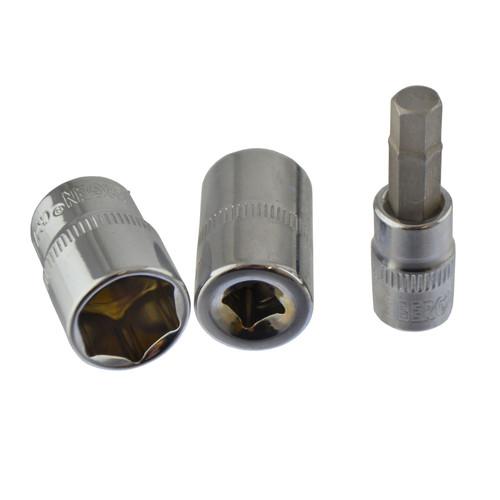 "1/4"" Drive Metric Shallow Sockets And Accessory set 4 - 13mm 27pc Torx / Hex / Bits"