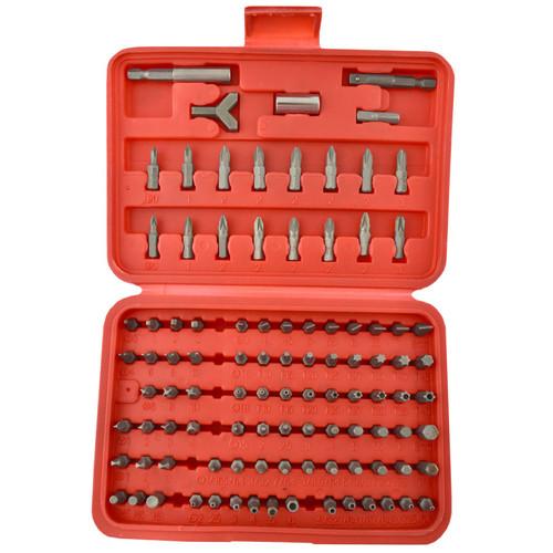 100pc Screwdriver Drill Wrench Torx Security Bit Tamperproof Hex Bit Set