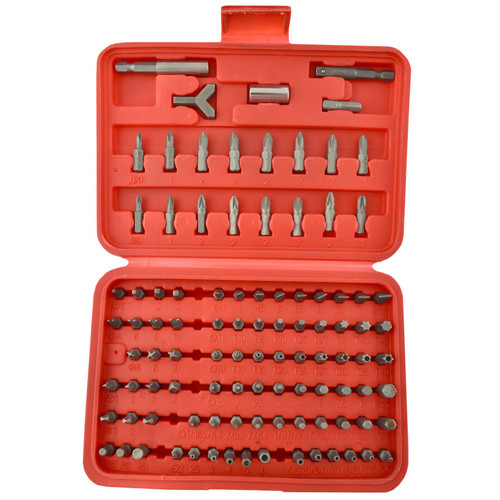100pc Screwdriver Drill Wrench Torx Security Bit Tamperproof Hex Bit Set