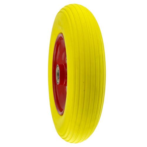 "14"" Pneumatic WheelBarrow / Truck / Cart Spare Wheel Puncture Proof Foam Filled"