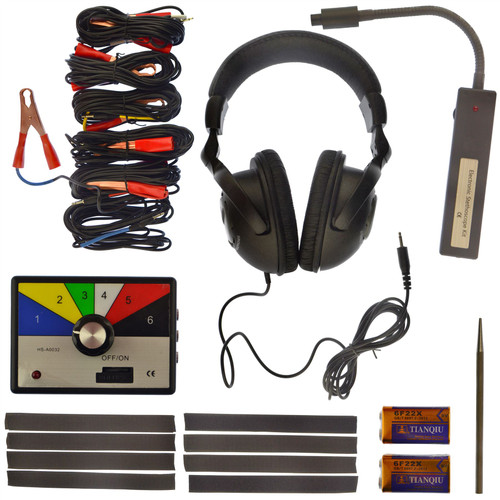Electronic Stethoscope Kit Engine Gearbox Radiator Fault Detector Diagnostics Tool