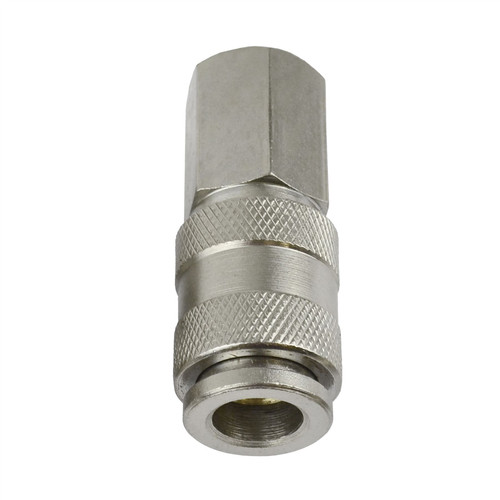 EURO Air Line Hose Connector Fitting Female Quick Release 1/4 inch BSP Female 2pk