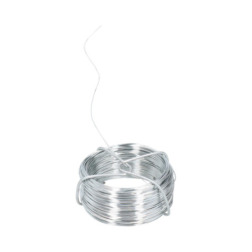 Galvanised Wire Roll Hanging Pictures Garden Wire 2pc Set 80 Metres x 0.6mm