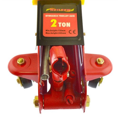 2 Ton Hydraulic Trolley Car Van Floor Garage Jack Lift 2000kg AN188