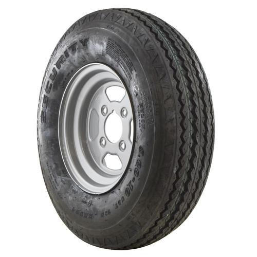 "Trailer Wheel Rim and Tyre 5.00 x 10 6 PLY 4"" PCD 78N Tubeless 4 Stud TRSP40"