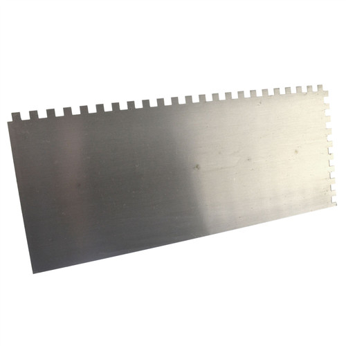 Soft Grip Self Adhesive Trowel 280mm Square Teeth Steel Ceramic Plaster Grout SIL314