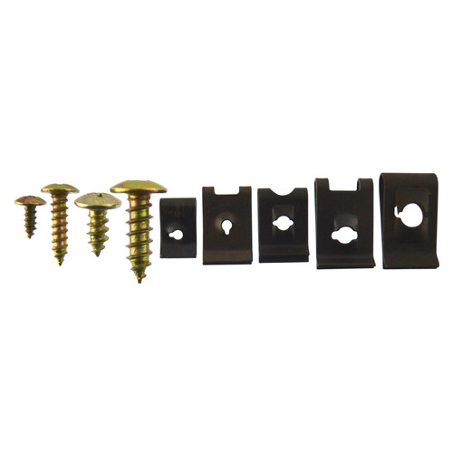 Screw And U Type Cushion Speed Clips Assortment Kit Fastener Trim Panel 170pcs