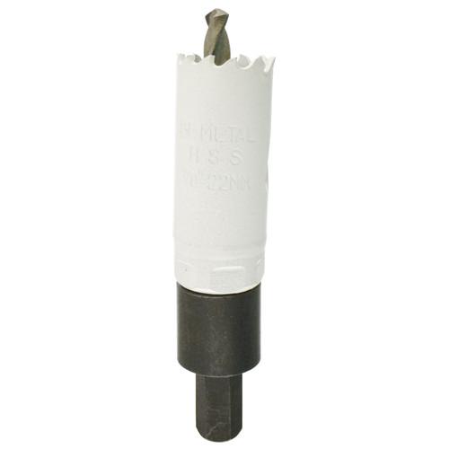 22mm HSS Hole Saw Holesaw Bi-Metal Blade Cutter Drill And Drill Adaptor Arbor