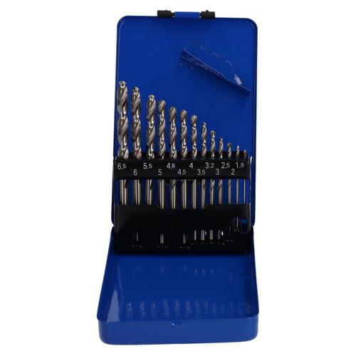 13pc Engineering HSS Drill Bit1.5-6.5mm 135 Deg Split Point Ground 6542 TE790
