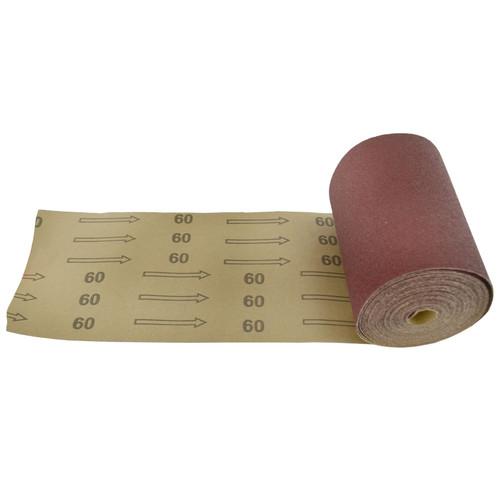 Sand Paper Roll 60 Grit Abrasive 5m Long 115mm Wide Aluminium Oxide SIL153