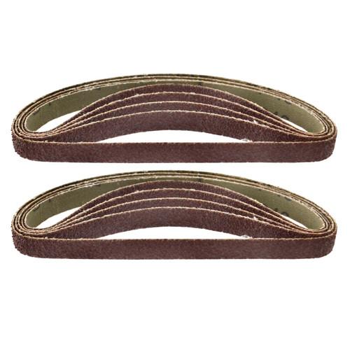 Belt Power Finger File Sander Abrasive Sanding Belts 330mm x 10mm 40 Grit 10 PK