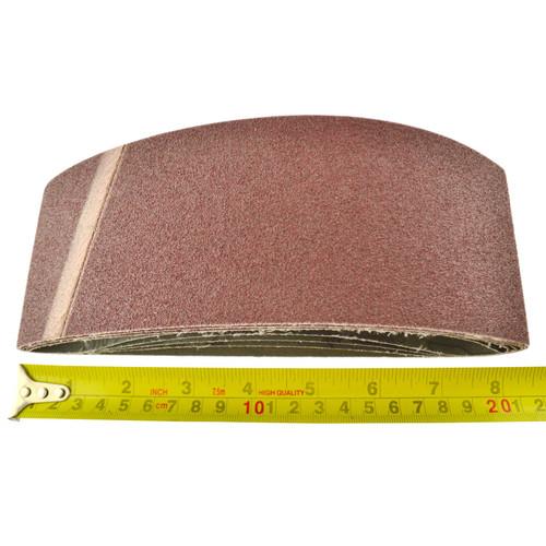 Belt Power Finger File Sander Abrasive Sanding Belts 457mm x 75mm 80 Grit 5 PK