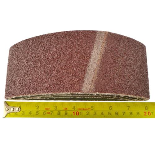 Belt Power Finger File Sander Abrasive Sanding Belts 457mm x 75mm 40 Grit 5 PK