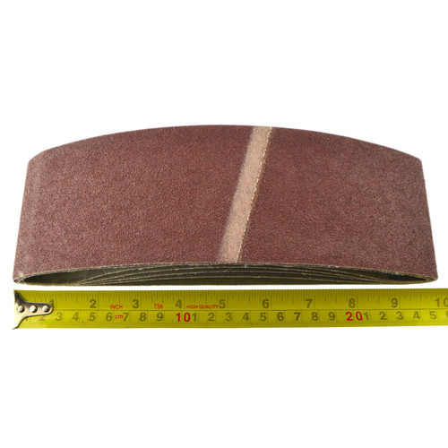 Belt Power Finger File Sander Abrasive Sanding Belts 533mm x 75mm 80 Grit 20 PK