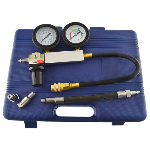 Cylinder leak detector / tester compression leakage kit set petrol engines AT270