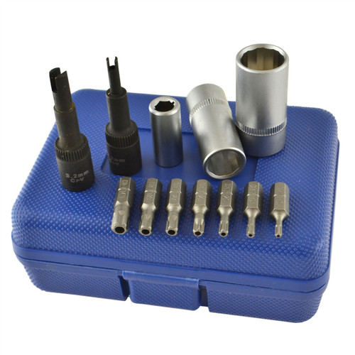 12pc Air Conditioning Service Repair Tool Set Valve Cap & Core Removers TE836
