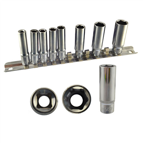 """Imperial SAE / AF Double Deep Sockets 1/4"""" And 3/8"""" Drive 5/32"""" - 7/8"""" 23pc Set"""