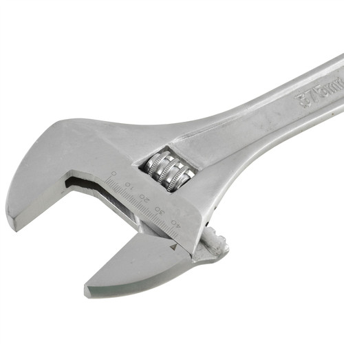 "15"" Adjustable Wrench Monkey Wrench Spanner Jumbo Large 44mm Jaw TE807"