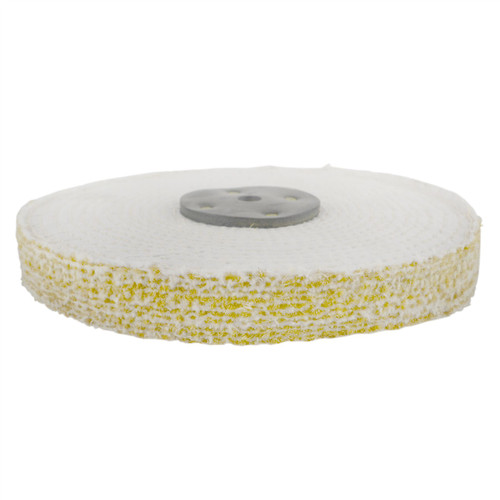 """Coarse Sisal Fast Cut Buffing Polishing Mop 8"""" x 1"""" 2 Section 1st Stage Metal"""