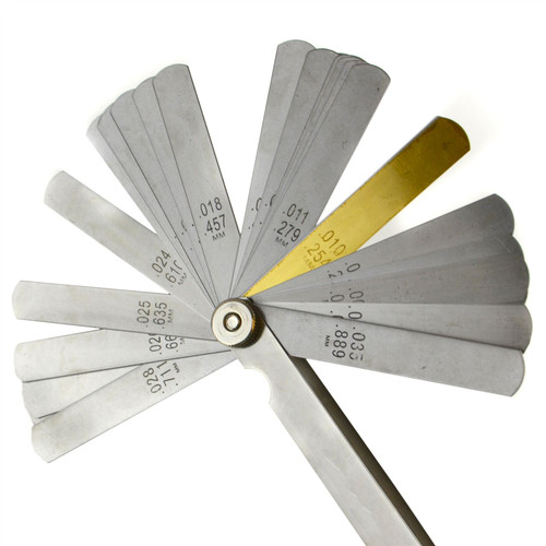 32 Blade Feeler Gauge Metric and Imperial Tappets Gap Measure Spark Plug TE918