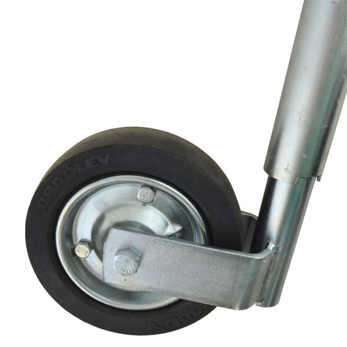 Bradley 42mm Jockey Wheel For Trailers Caravans Steel Wheel Telescopic BRD01
