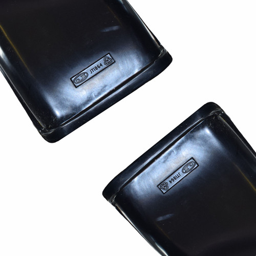 """Trailer Twin Axle Tandem Mudguard Wing Fender For 10"""" Wheels 48"""" x 7"""" Pair"""
