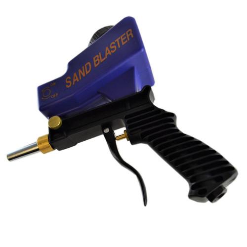 Pot Air Sandblaster Kit Grit Shot Sand Blaster Rust Paint Remover Removal Tool