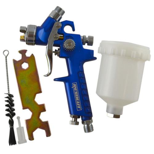 Mini Spray Gun Gravity Feed HVLP Touch Up Gun 1.0mm Nozzle 125ml Pot