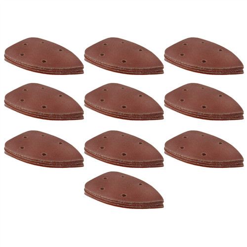 Hook/Loop Sanding Abrasive Discs Pads 140mm Sanding Triangle 100 PK Mixed Grit