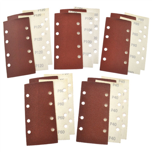 Hook/Loop 1/3 Sheet Sanding Sander Sandpaper Pads 20 Pack Mixed Grit 40  120