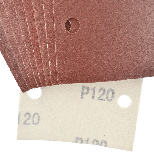 Hook/Loop 1/3 Sheet Sanding Sander Sandpaper Pads 10 Pack 120 Grit