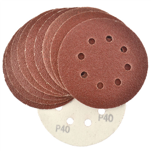 Hook/Loop Sanding Abrasive Discs Orbital DA Palm Sander 125mm 40 Grit 10 Pk