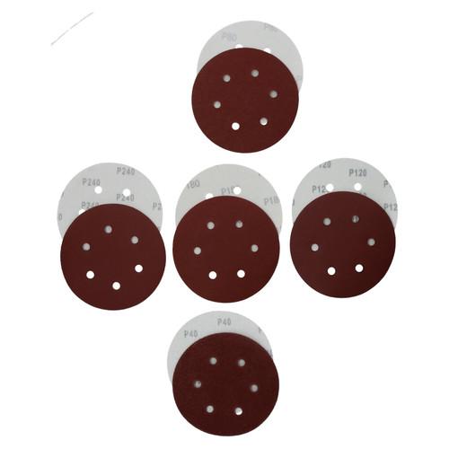 Hook/Loop Sanding Abrasive Discs Orbital DA Palm Sander 100PK 150mm Mixed Grit