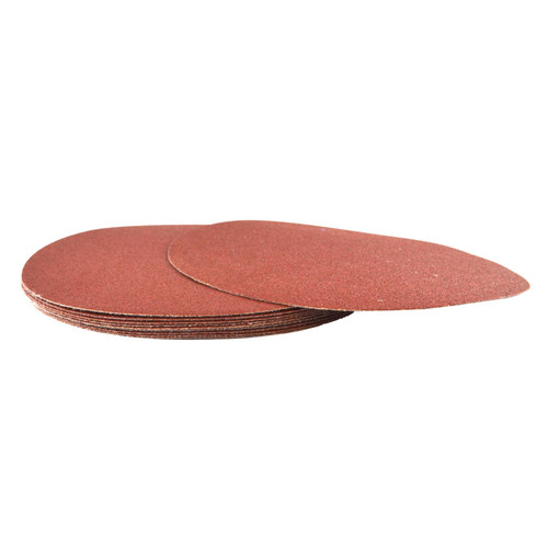 Hook/Loop Sanding Abrasive Discs Orbital Palm Sander 10PK 180mm P120 SIL349