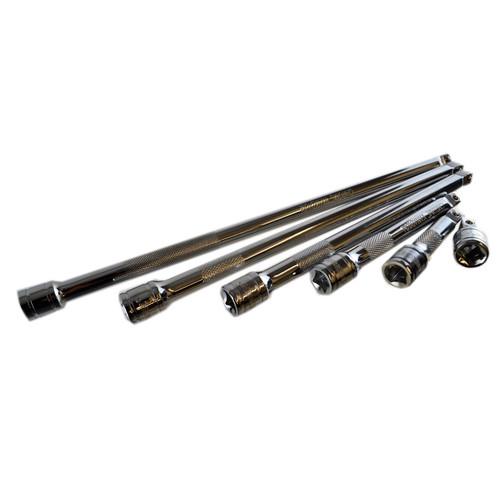 "3/8"" Drive Wobble Swivel Socket Extension Bar Set 6pcs 38mm - 300mm Bergen"