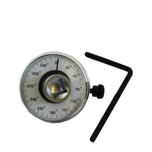 "1/2"" Dr Torque Angle Gauge For Torque Wrench 0-360 Degrees TE963"