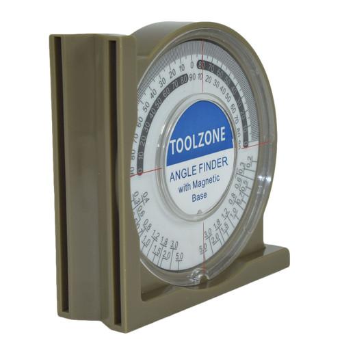 Magnetic Base Angle Finder Measure Spirit Level Gauge Roofer Builders Plumbers