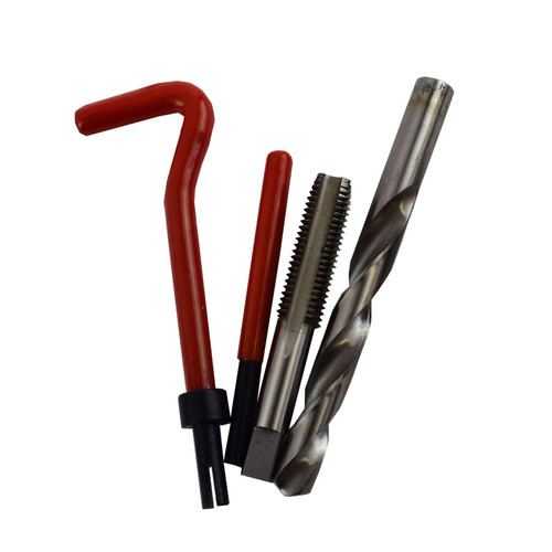 """1/2"""" x 13 UNC Imperial Tap Repair Cutter Kit Helicoil Damaged Threads 14pc Kit"""