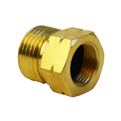 Gas Hose Adapter 21.8-14 To G 3/8-19 Regulator Bottle Pipe Burners Brass Thread