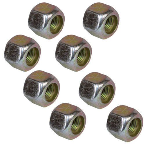 """Pack of 8 3/8"""" UNF Wheel Studs And Nuts For 4"""" PCD Trailer Suspension Hubs"""