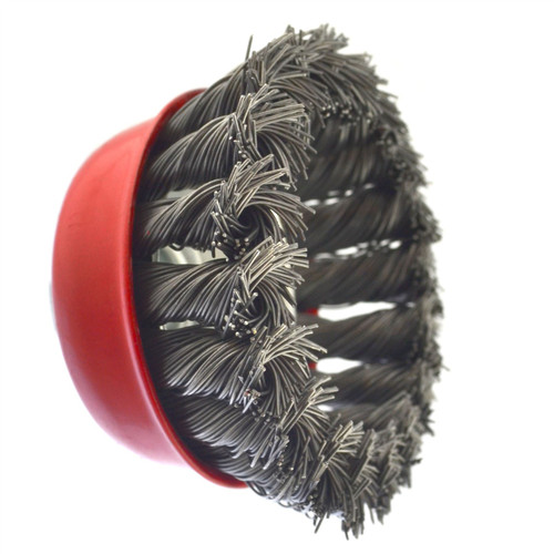 "3"" / 75mm Wire Twisted Knot Cup Brush M14 Thread 4-1/2 Grinder Rust Removal"