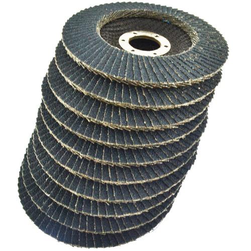 "80 Grit Zirconium Flap Disc Sanding Grinding Rust Removing 4-1/2"" grinder 100pk"