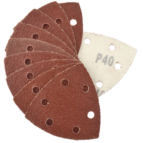 Hook And Loop Sanding Abrasive Discs Pads 90mm Triangular Disc 50 PK 40 Grit